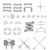 Elementos del diseño del vector y decoración decorativos de la página Fotografía de archivo libre de regalías
