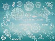 Elementos del diseño del verano del vector Imagenes de archivo
