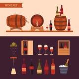 Elementos del diseño del vino Imagenes de archivo