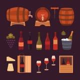 Elementos del diseño del vino Imagen de archivo