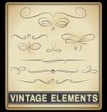 Elementos del diseño del vintage Imagen de archivo libre de regalías