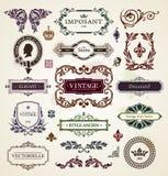 Elementos del diseño del vintage Foto de archivo libre de regalías