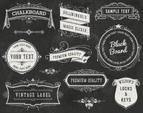 Elementos del diseño del vintage de la pizarra libre illustration
