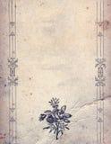 Elementos del diseño del vintage en la hoja de papel vieja Imagenes de archivo