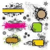 Elementos del diseño determinado stock de ilustración
