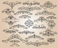 Elementos del diseño determinado Ilustración del vector Beige negro Imagenes de archivo