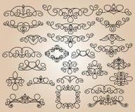 Elementos del diseño determinado Ilustración del vector Beige negro Fotos de archivo libres de regalías