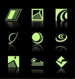 Elementos del diseño - el icono fijó (2) ilustración del vector