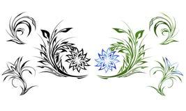 Elementos del diseño floral Stock de ilustración