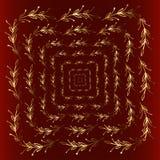 Elementos del diseño floral del oro, estilo de la naturaleza Foto de archivo libre de regalías