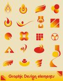 Elementos del diseño gráfico Fotografía de archivo libre de regalías