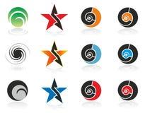 Elementos del diseño (insignia) Fotos de archivo