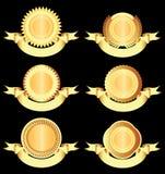 Elementos del diseño - insignias y medallas. Fotos de archivo