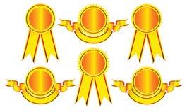 Elementos del diseño - insignias y medallas. Imagenes de archivo