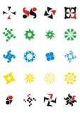 Elementos del diseño. Paquete de los modelos de la insignia stock de ilustración