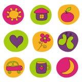 Elementos del diseño para los bebés Imagenes de archivo