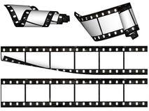 Elementos del diseño, rayas en blanco de la película Fotografía de archivo