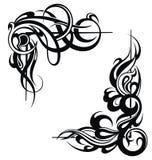 Elementos del diseño del tatuaje en blanco Fotografía de archivo