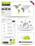 Elementos del diseño web ilustración del vector