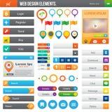 Elementos del diseño web Fotografía de archivo libre de regalías