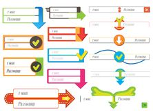Elementos del diseño web Imagen de archivo libre de regalías