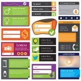 Elementos del diseño web Fotografía de archivo