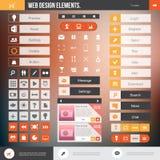 Elementos del diseño web libre illustration
