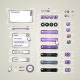 Elementos del diseño web Imágenes de archivo libres de regalías