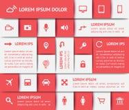 Elementos del diseño web Fotos de archivo
