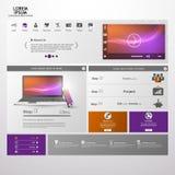 Elementos del diseño web. Plantillas para el sitio web. Imágenes de archivo libres de regalías