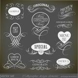 Elementos del diseño y decoración caligráficos de la página Imagen de archivo