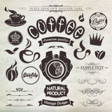 Elementos del diseño y decoración caligráficos de la paginación Foto de archivo