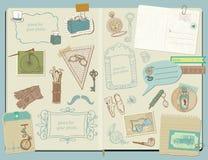 Elementos del diseño - accesorios de los caballeros Imagen de archivo