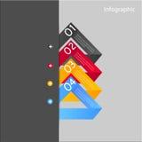 Elementos del diseño de la bandera de Infographic Fotografía de archivo libre de regalías