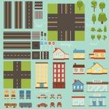 Elementos del diseño de la ciudad Imágenes de archivo libres de regalías