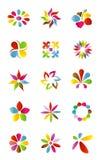Elementos del diseño de la insignia Imágenes de archivo libres de regalías