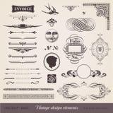 Elementos del diseño de la vendimia Fotos de archivo libres de regalías