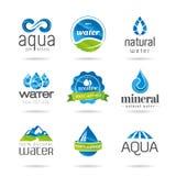 Elementos del diseño del agua. Icono del agua Fotografía de archivo