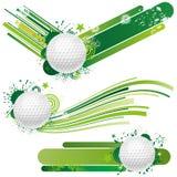 elementos del diseño del golf Imagenes de archivo