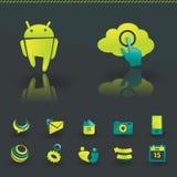Elementos del diseño del icono Imágenes de archivo libres de regalías
