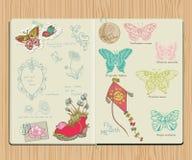 Elementos del diseño del libro de recuerdos del vector Foto de archivo libre de regalías