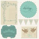 Elementos del diseño del libro de recuerdos - muchacha hermosa Imagenes de archivo