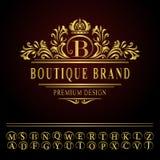 Elementos del diseño del monograma, plantilla agraciada Línea elegante diseño del logotipo del arte Imagenes de archivo