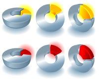 Elementos del diseño del vector Imágenes de archivo libres de regalías