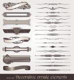 Elementos del diseño y decoraciones de la paginación Imagen de archivo