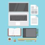 Elementos del espacio de trabajo Imagen de archivo libre de regalías