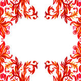 Elementos del estampado de flores Fondo de la acuarela del vector Imagenes de archivo