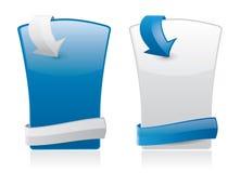 Elementos del estilo del Web con el lugar para el texto ilustración del vector