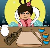Elementos del festival de Mooncake libre illustration