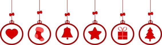 Elementos del fondo de la decoración de la Navidad fotografía de archivo libre de regalías